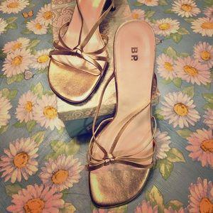 12 M BP Nordstrom Gold Metallic Sandals